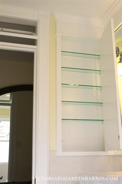 We Designed And Built An Extra Tall Mirrored Storage Medicine Cabinet For Our Old House Bathroom Remodel It S A Great Way To Use The E Between