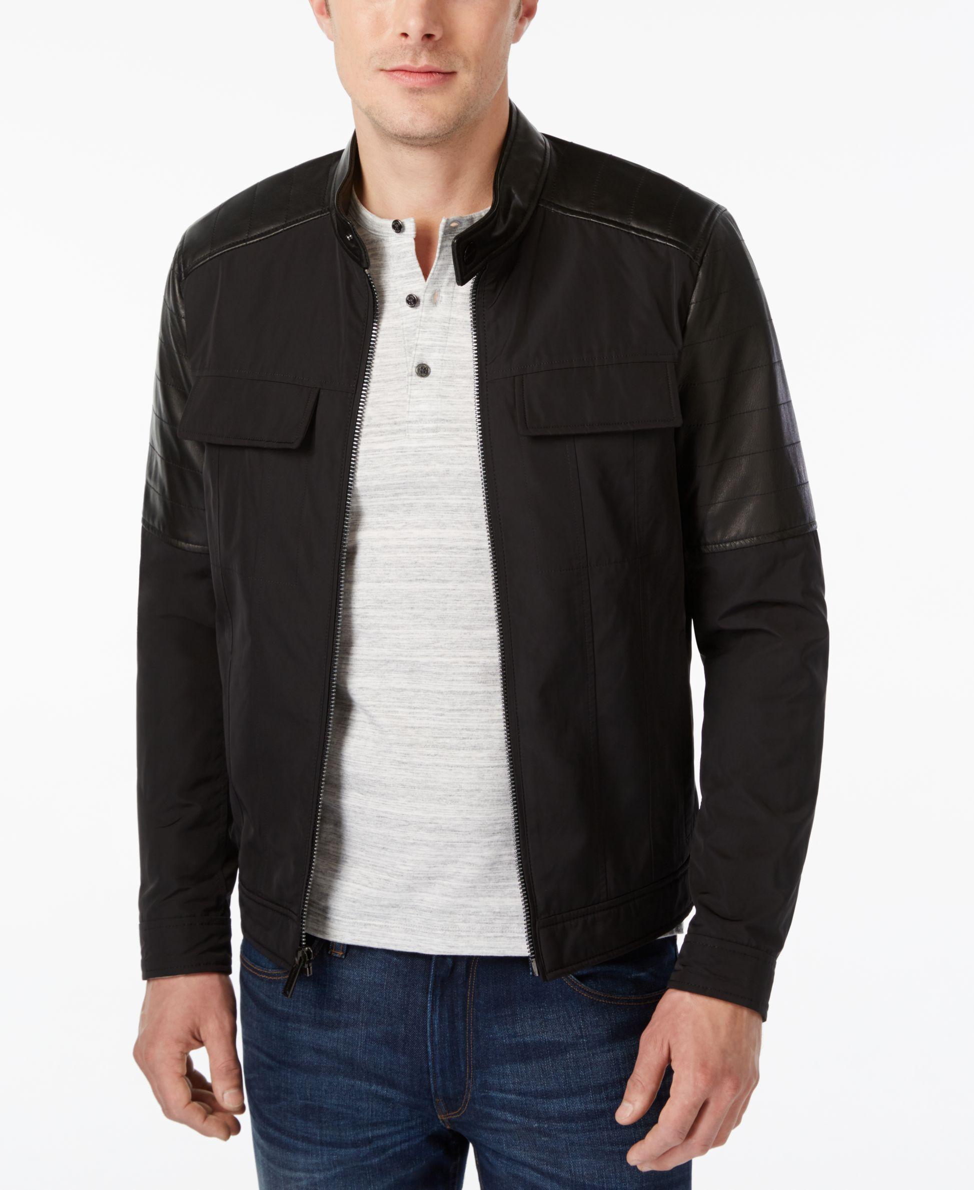 Michael Kors Men's Technical Moto Jacket