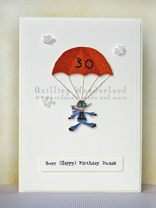 Handmade Alice in Wonderland Inspired Birthday card Moon