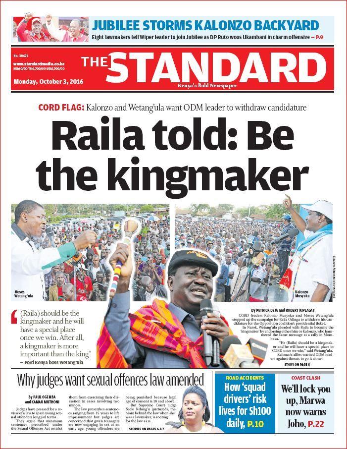 standard newspaper kenya