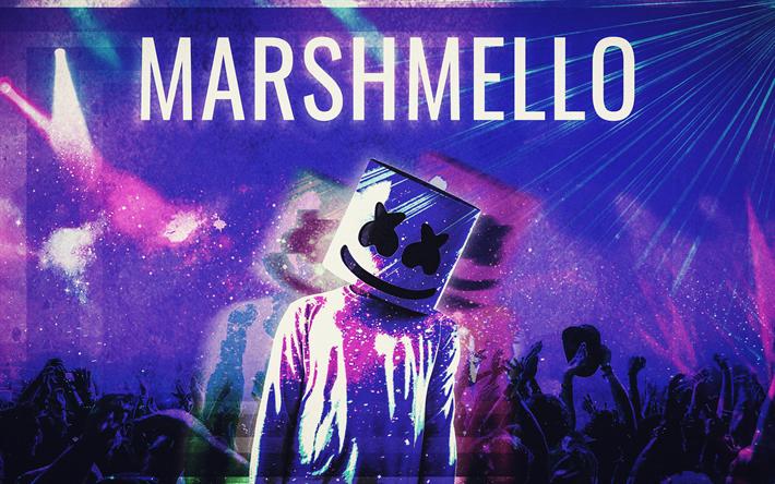 Download wallpapers DJ Marshmello, fan art, 4k, DJ