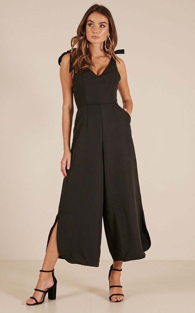 2f577a55b6e Showpo Fancy That jumpsuit in black - 12 (L) Rompers   Jumpsuits