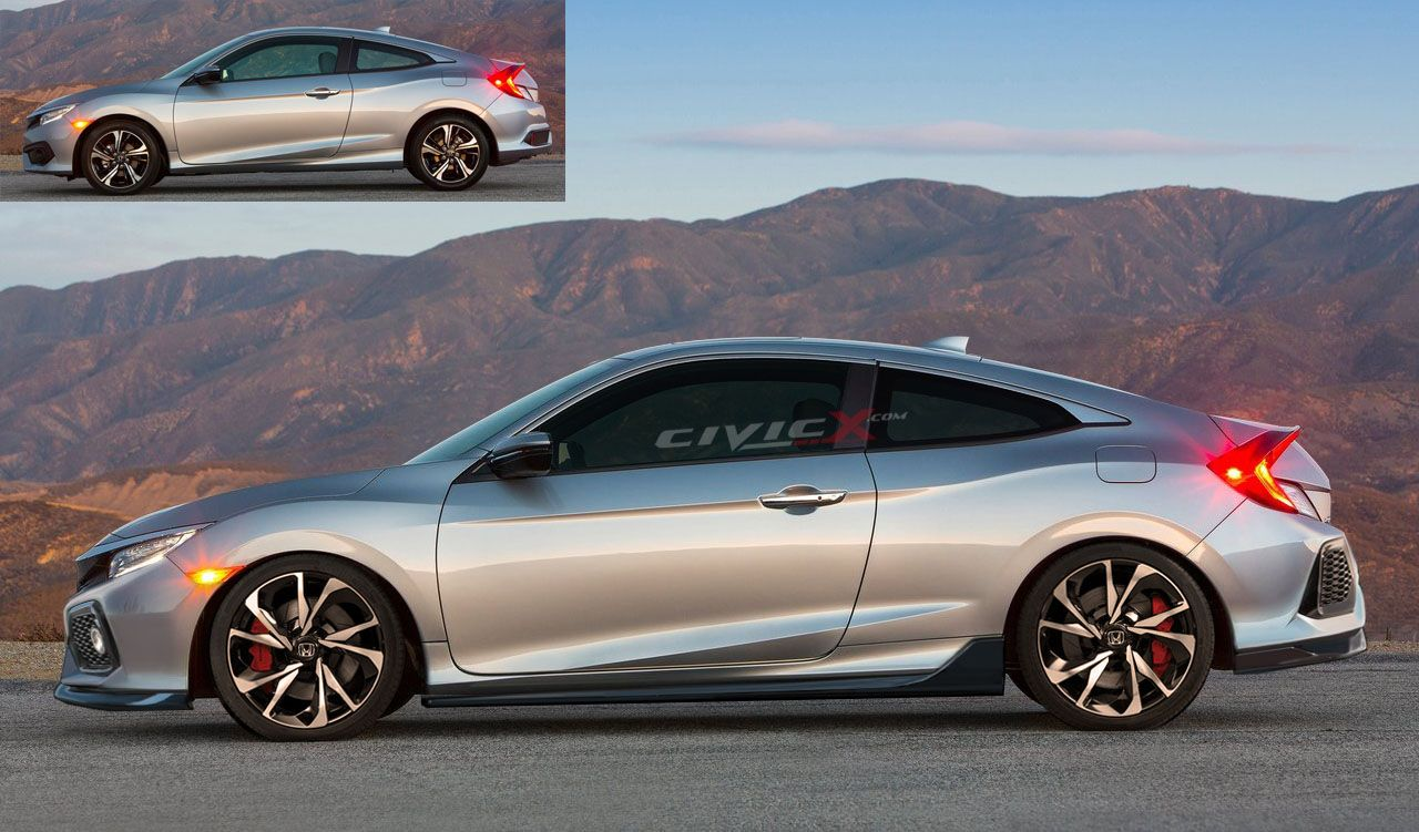 2017 Civic Coupe >> 2017 Civic Si Coupe Auto Honda Civic Honda Civic Si