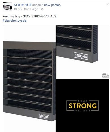 Stay Strong Vs Als Golf Ball Display Cases Shadow Bo By Alu Design Made In America