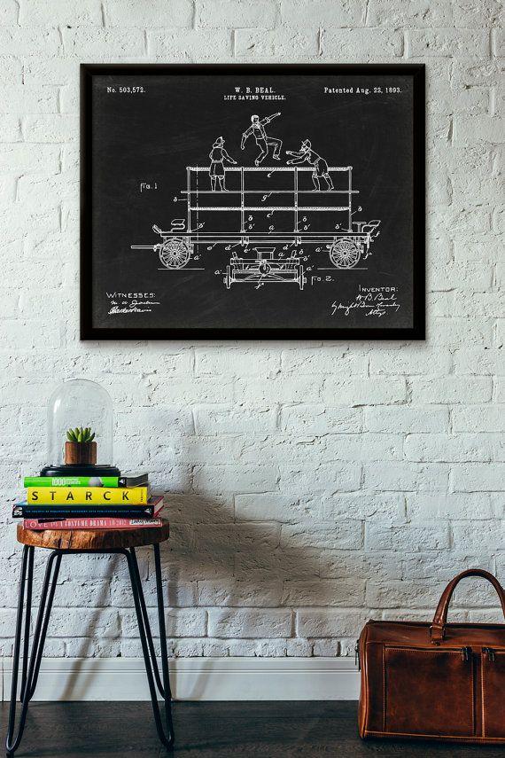 Life Saving Vehicle Patent Print  1893  Poster Wall by PatentShop