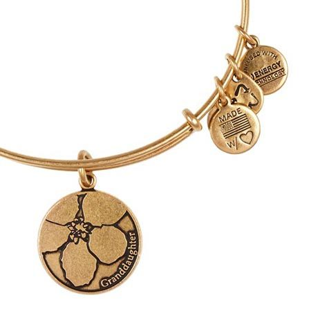 Alex and Ani Granddaughter Expandable Wire Bangle Russian Gold