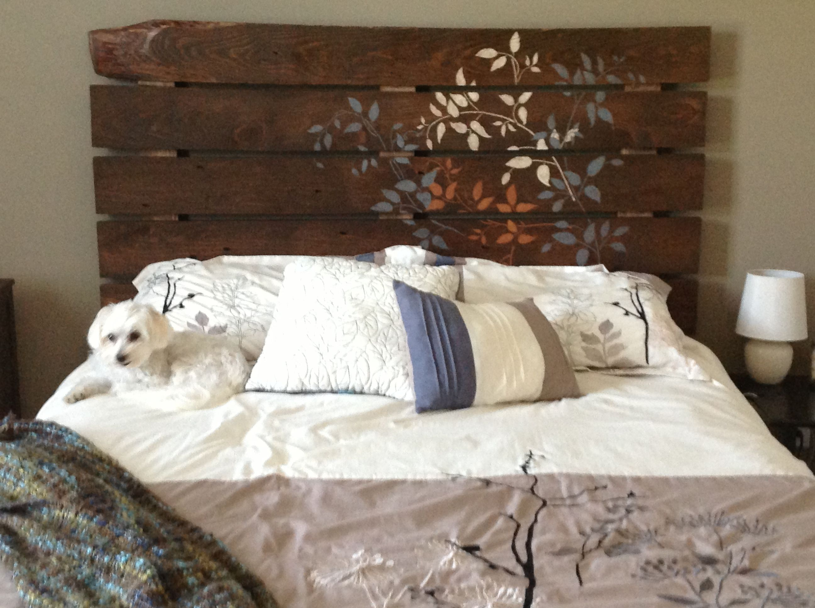 Headboard From Rough Cut Lumber