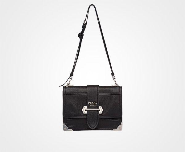 9da8f637eeff1e Thumbnail 1 | Prada Handbags | Leather shoulder bag, Prada, Canvas ...
