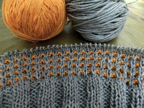 Photo of Farbspiele | orange und grau. Herbstfeeling aus Wolle. Die orange InSilk, die gr…