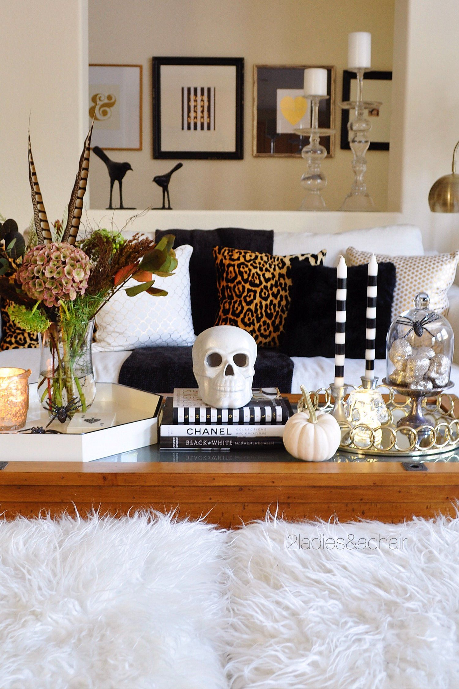 Styling A Coffee Table Halloween Halloween Living Room Decor