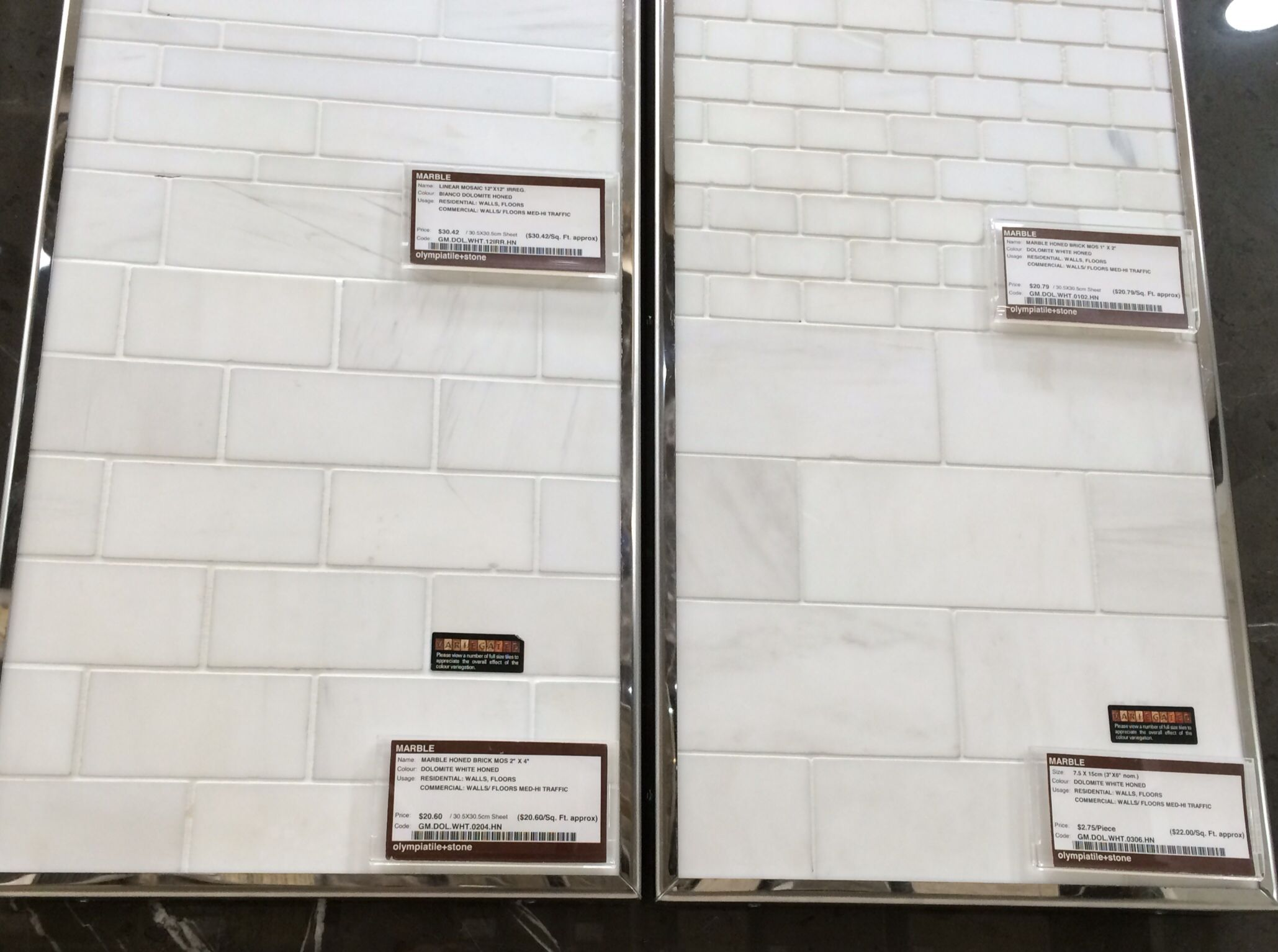 White Honed Dolomite Marble Tiles From Olympia Possible