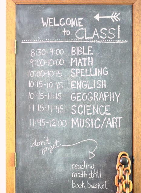 great homeschool schedule! :)   parenting   Pinterest   Kind