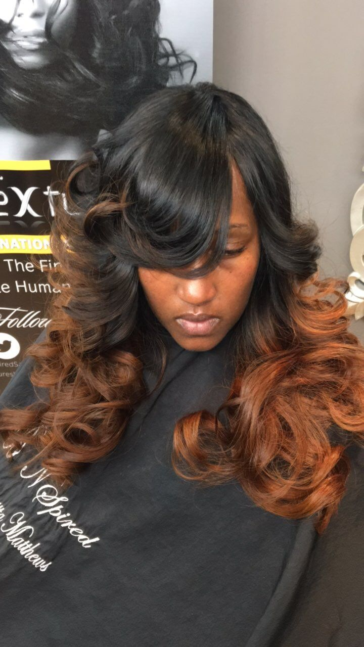 Hair extensions colored ombr redbrown highlights hand painted hair extensions colored ombr redbrown highlights hand painted golden brown copper blonde protective styles natural hair pmusecretfo Image collections