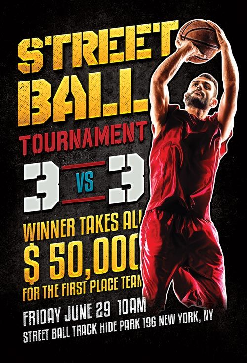 Street Ball Basketball Flyer Template - Http://Ffflyer.Com/Street