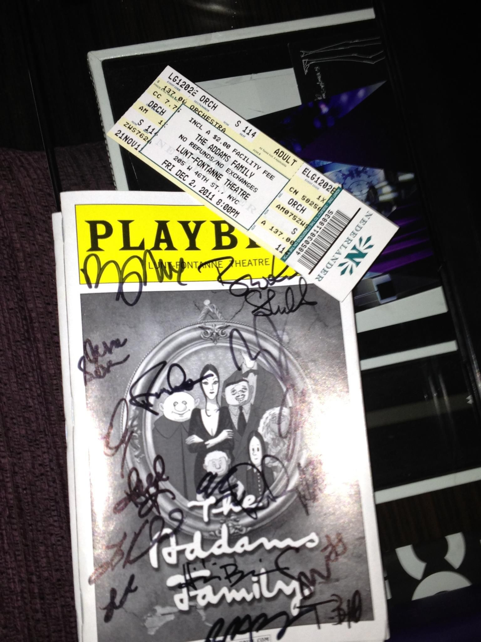 The Addams Family was SUCH a GREAT show! It's a must see!