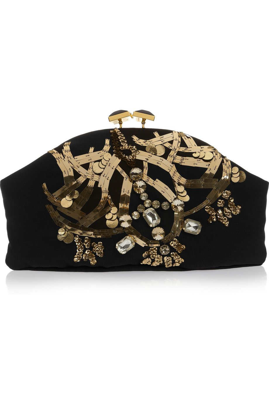 Marni - Jewel and horn-embellished clutch