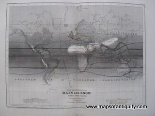 Antique-Map-The-Distribution-of-Rain-and-Snow-Over-the-Globe