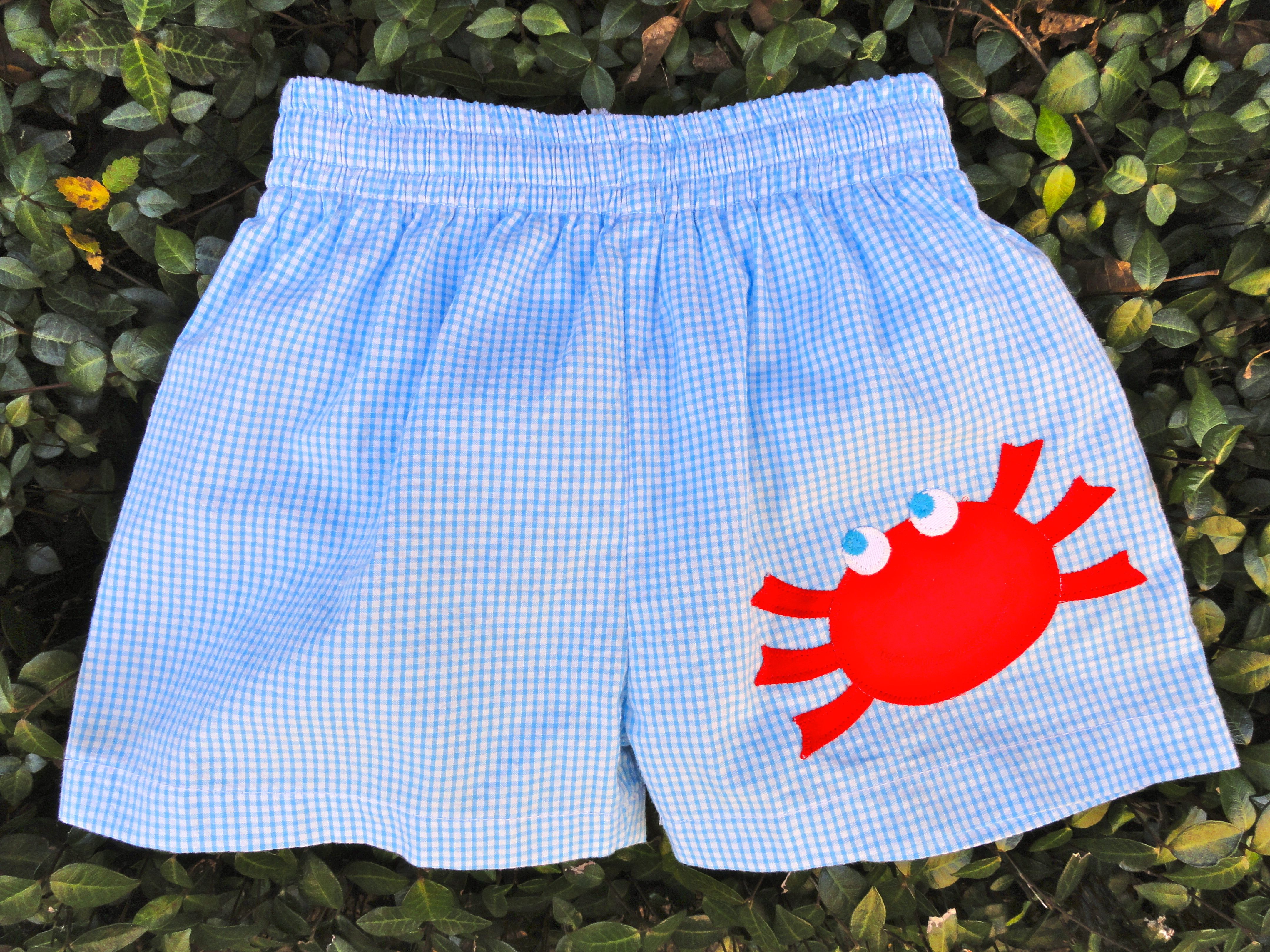 a3ae97c990 Crab Swim Trunks from Smocked Auctions | Crab Shack | Baby boy ...
