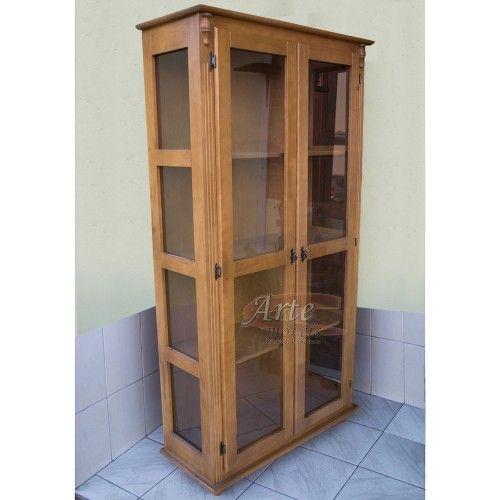 Cristaleira Verníz 1,00 x 1,90 2 Portas em Taeda - 4992    #artemoveisrusticos #arte #moveis #rusticos #moveisrusticos #cristaleira #cozinha