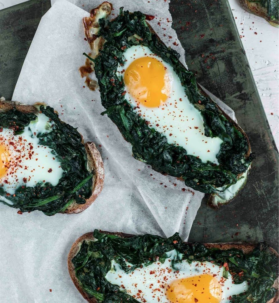 Brot mit Spinat und Ei I Quickies I FOODBOOM