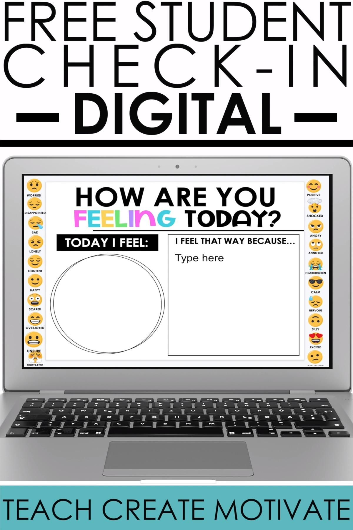 My FREE Digital Check In includes a slide and also a poster that can be used for a calm down area in your classroom. This freebie is a perfect management tool and resource for your classroom, or for distance learning! The check in strategy is a way for your students to express how they're feeling and to support them in a positive way. This idea could be used for grades ranging from 1st to 6th.