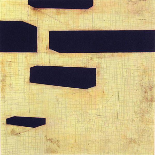 Steven Baris Geometries of Flow D9   2013   oil on Mylar   24 x 24 inches
