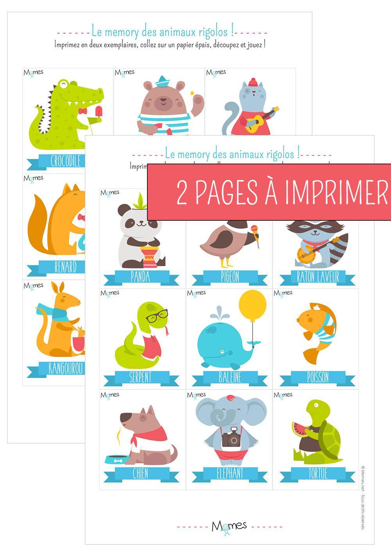 Memory animaux - Jeu à imprimer   Animal, Jeu et Activité