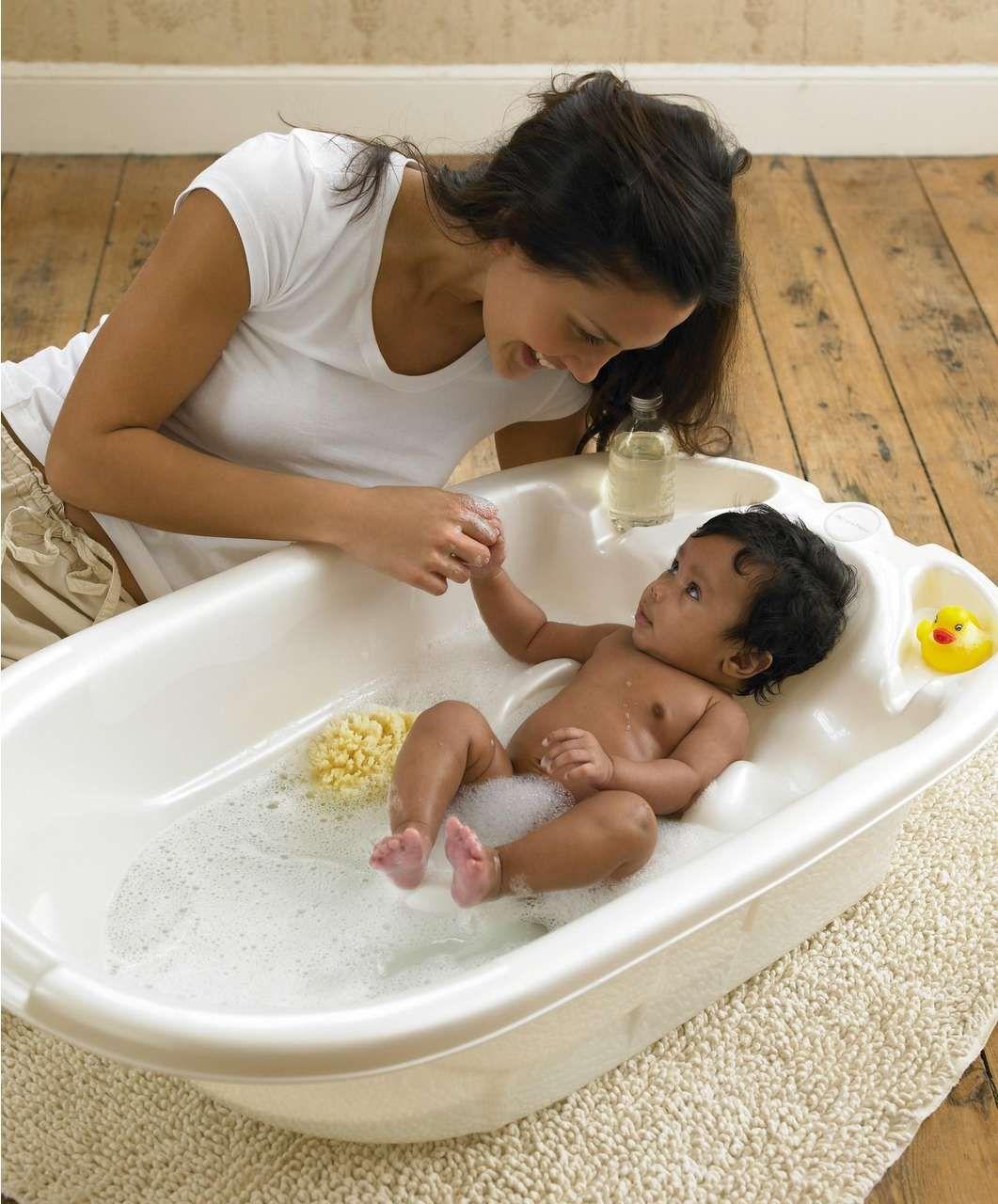 Acqua Two Stage Ergo Bath - Pearl White - Sale - Mamas & Papas ...