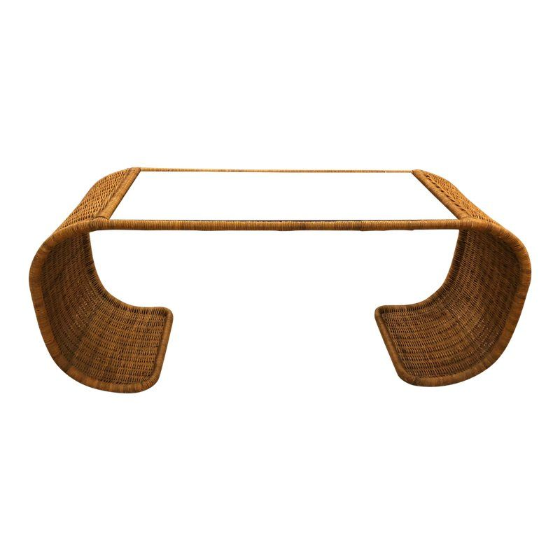 Vintage Scroll Natural Wicker Console Sofa Table Wicker Home Accessories Stores Modern Sofa Table