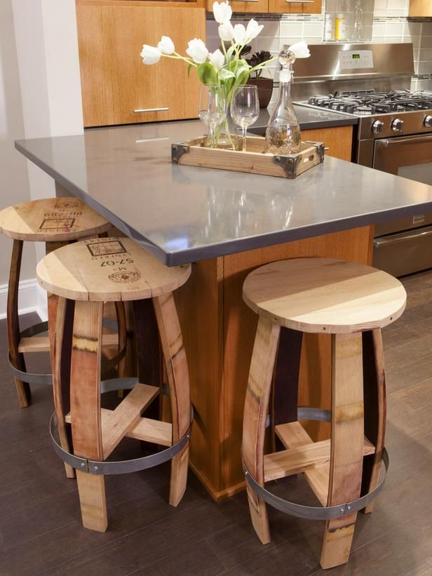 Charmant Very Unique Bar Stools From Old Barrels... Chairs And Ottomans: Vintage  Makeovers And Upcycled Seating : Home Improvement : DIY Network