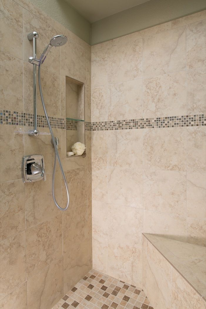 Beautiful tiled shower in this San Diego #bathroom #remodel. www ...