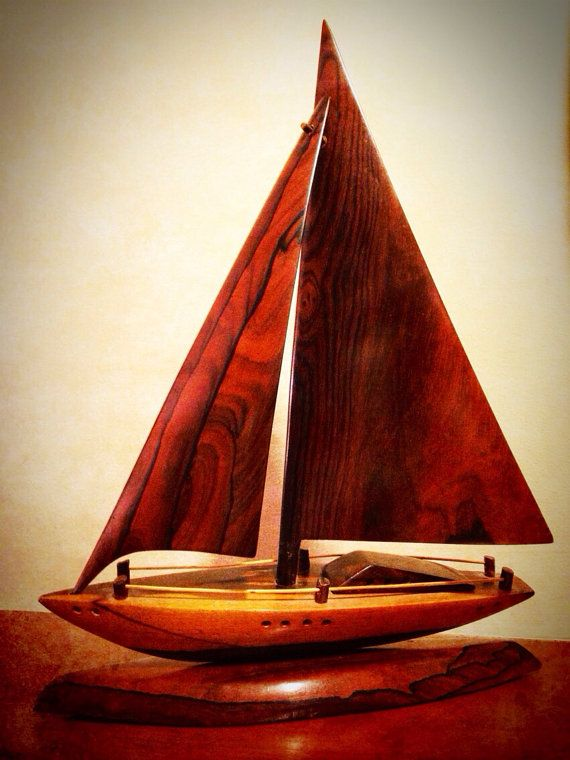 Hand Carved Wooden Sailboat On Etsy For The Love Of