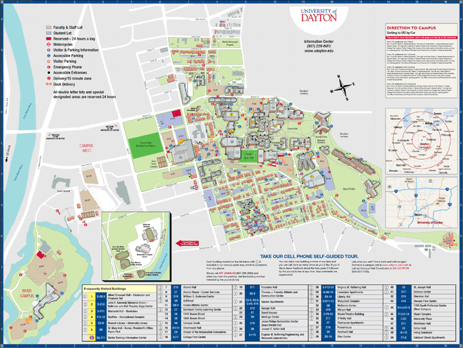 University Of Dayton Map University Campus Map | plans_campus | Campus map, Contemporary