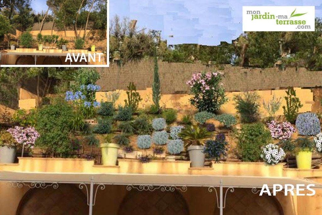 Amenagement D Un Talus En Pente Jardin Mediterraneen Climat Mediterraneen Amenagement Paysager