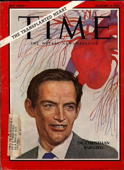 Dr Christian Barnard, 1967 The first successful human -to human heart  transplant. Cape Town - South Africa