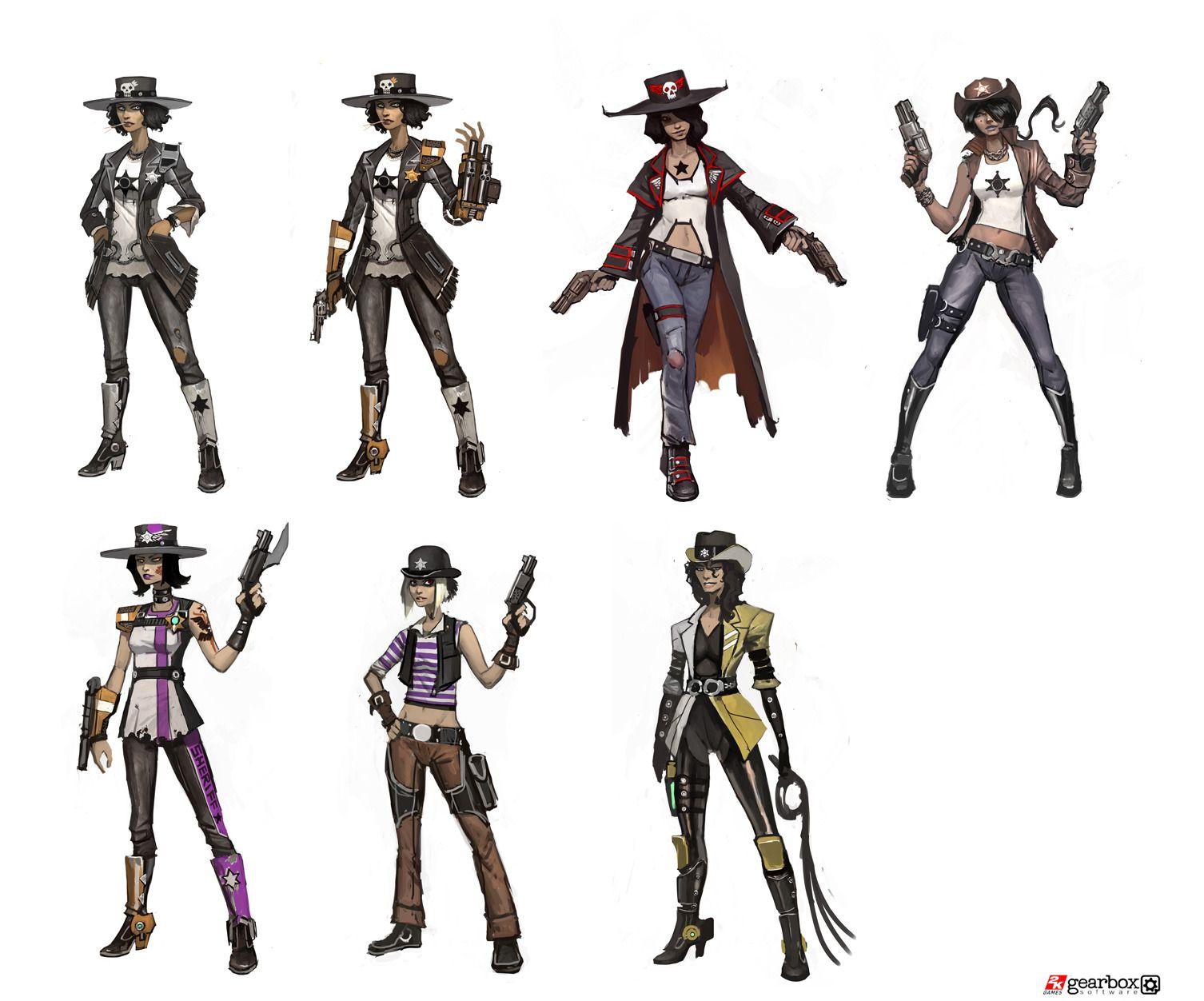 Character Design Process Pdf : Borderlands concept art ref character design