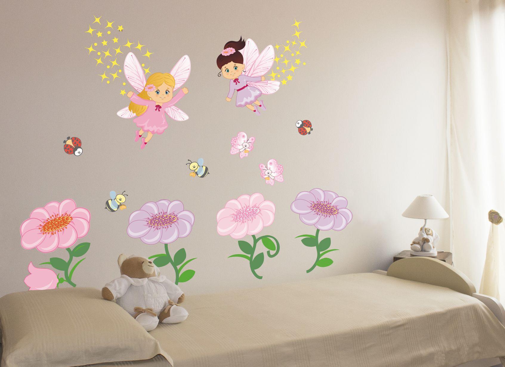 Wall stickers bambini adesivi murali kit le fate dei - Wall stickers camerette ...