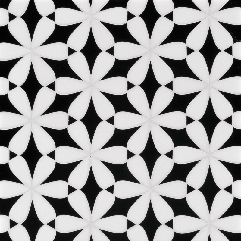Ann Sacks Mosaic Bathroom Tile: Tile. ANN SACKS Mosaics In Bloom Black And White. This