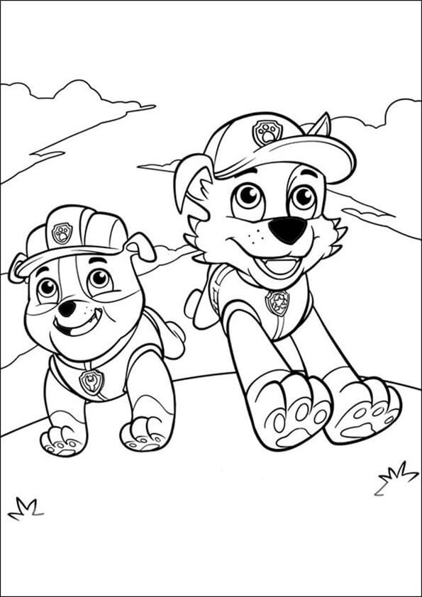 Rubble Chase Paw Patrol Coloring Paw Patrol Coloring Pages Paw Patrol Printables