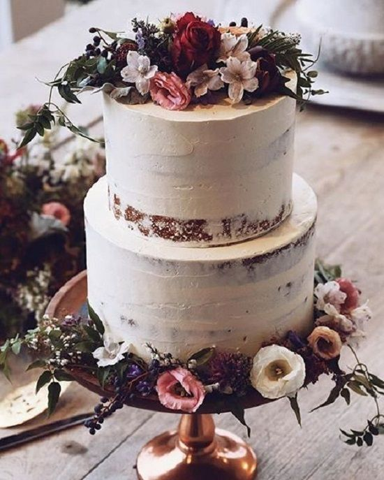 Semi naked wedding cake #weddingcake #weddingcake #wedding