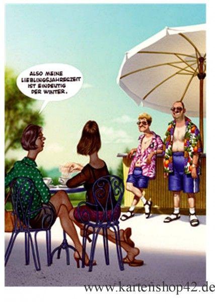 inkognito meine lieblingsjahreszeit haderer humor postkarte kaufen bei kartenshop42. Black Bedroom Furniture Sets. Home Design Ideas