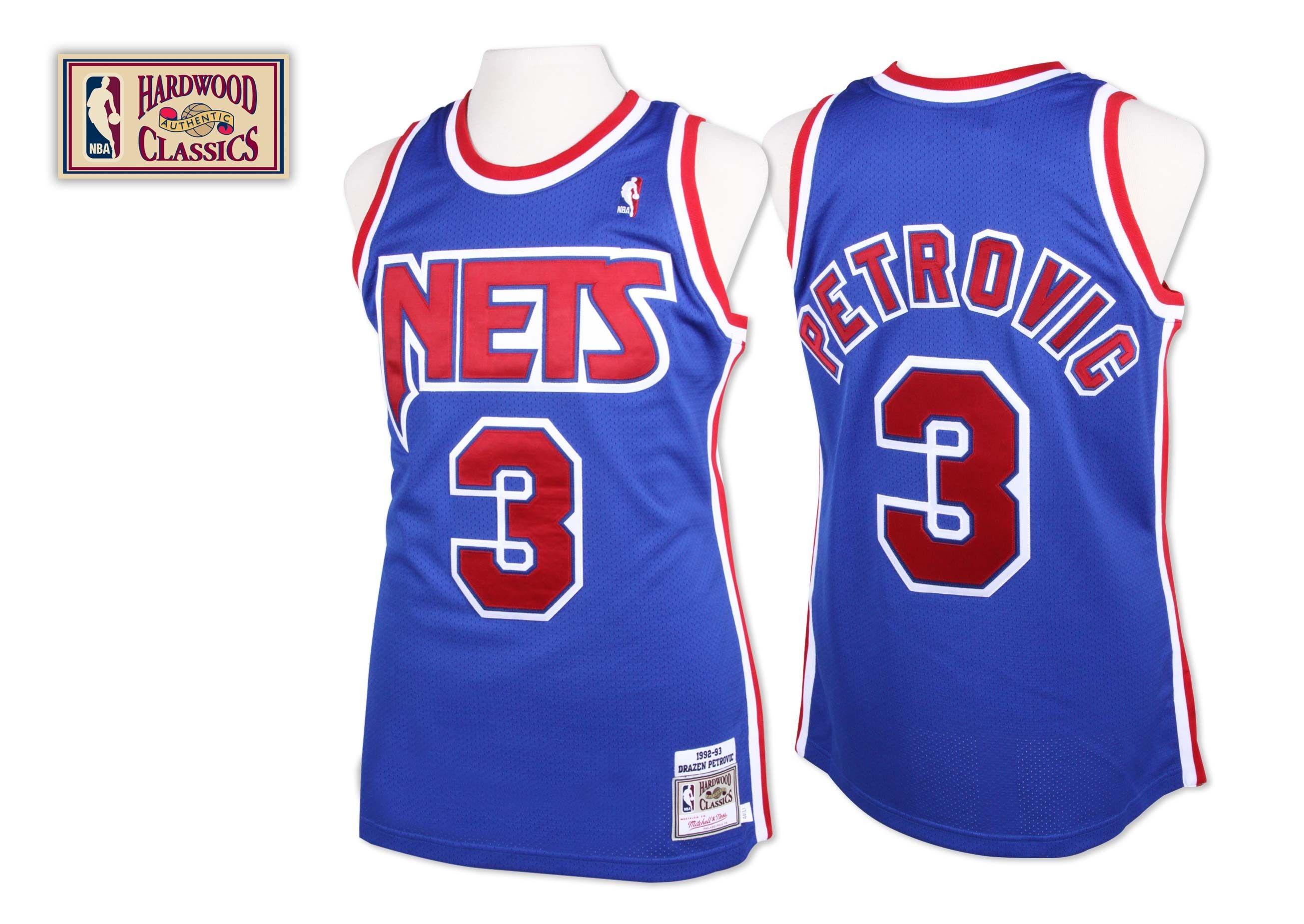 ... Throwback Swingman SewnStitched Jersey Drazen Petrovic 1992-93 Authentic  Jersey New Jersey Nets Mitchell Ness ... bb7f952d5