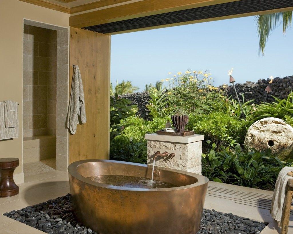 31 Beautiful Traditional Bathroom Design  Open Bathroom Design Entrancing Luxury Outdoor Bathrooms Decorating Inspiration