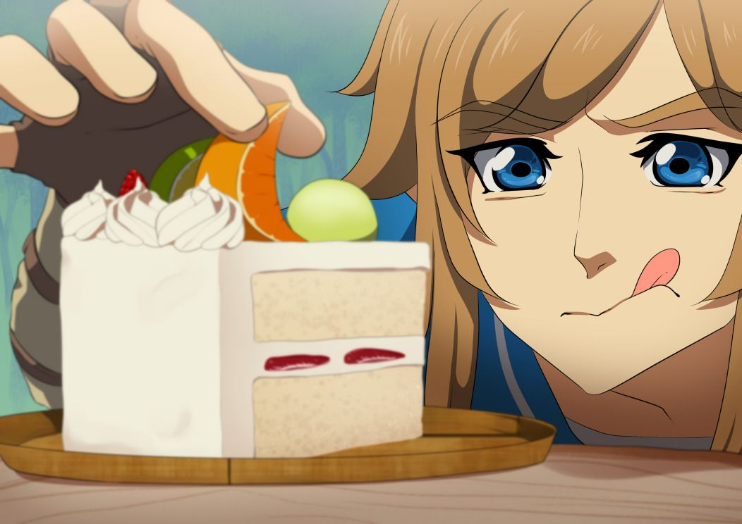 Am I the only one that found it hilarious that Link would make this beautiful, elaborate cake like, out in the open? I am? oh, okay.