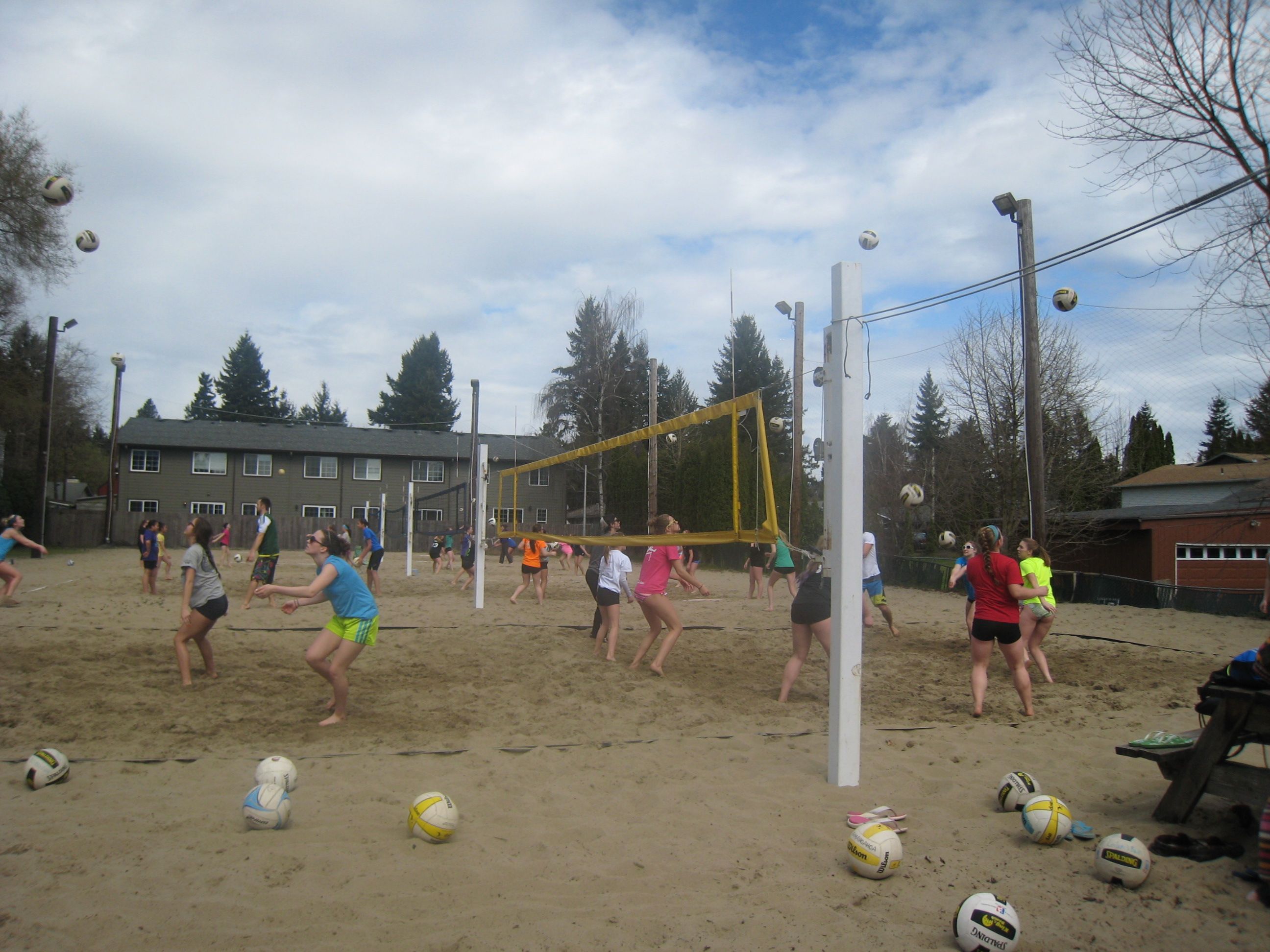 Spring Break 2013 Volleyball Camp Beach Volleyball Court Spring Break Beach