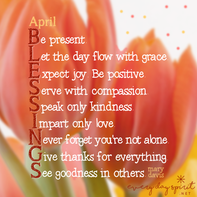 April Blessings! April For the app of beautiful