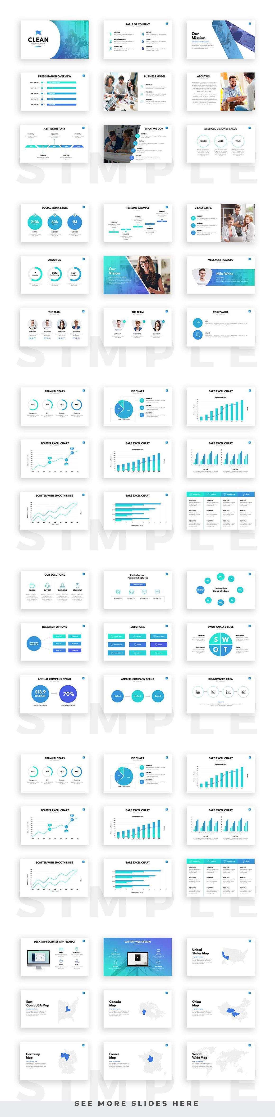 Clean Powerpoint Template Professional And Creative Presentation