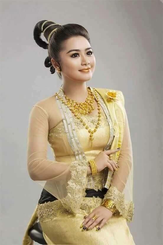 Myanmar Dress | Myanmar Dress ( Tha Doe Tha Mee Design) | Pinterest ...