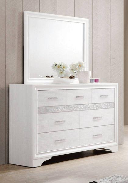 . Coaster Furniture Miranda White Dressers and Mirrors   Contemporary