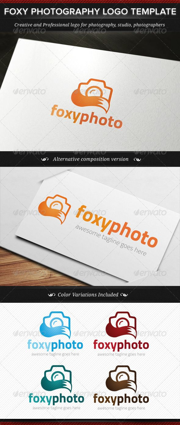 Foxy Photography Logo Template - DOWNLOAD NOW !!! #photography #logo #inspiration #template #download
